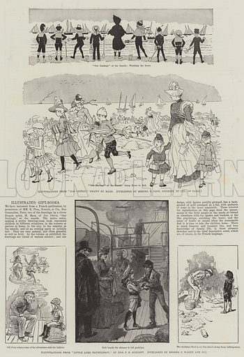 Illustrated Gift-Books. Illustration for The Illustrated London News, 11 December 1886.