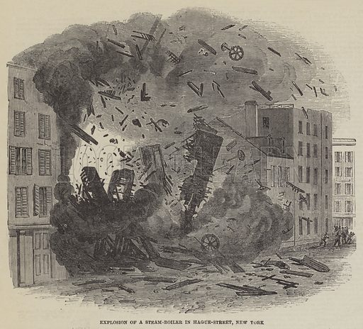 Explosion of a Steam-Boiler in Hague-Street, New York - Look and ...