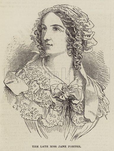 The late Miss Jane Porter. Illustration for The Illustrated London News, 8 June 1850.