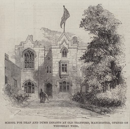School for Deaf and Dumb Infants at Old Trafford, Manchester, opened on Wednesday Week. Illustration for The Illustrated London News, 6 October 1860.