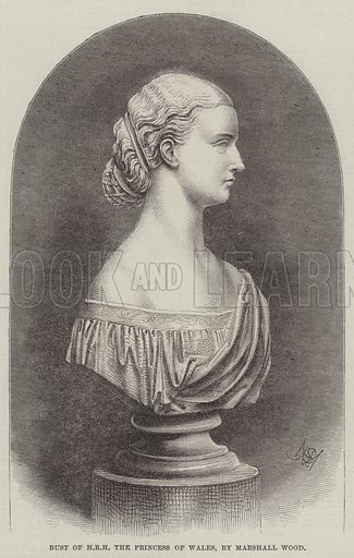 Bust of HRH the Princess of Wales, by Marshall Wood. Illustration for The Illustrated London News, 30 July 1864.