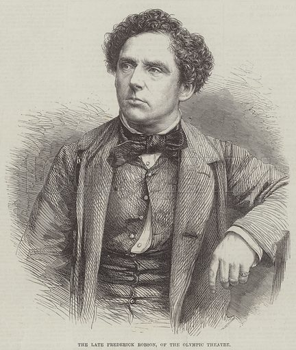 The late Frederick Robson, of the Olympic Theatre. Illustration for The Illustrated London News, 27 August 1864.