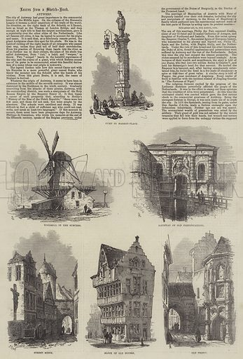 Antwerp. Illustration for The Illustrated London News, 25 May 1872.