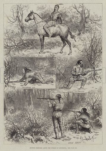 Hunting Sketches among the Indians of Minnesota. Illustration for The Illustrated London News, 20 March 1880.