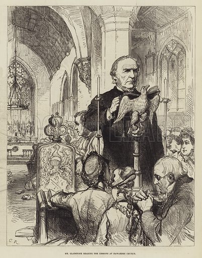 Public Life and Character of Mr Gladstone. Illustration for The Illustrated London News, 24 April 1880.