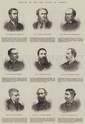 Members of the New House of Commons. Illustration for The Illustrated London News, 12 June 1880.