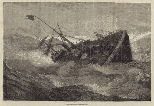A Shifted Cargo. Illustration for The Illustrated London News, 20 March 1880.