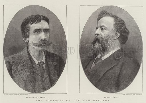 The Founders of the New Gallery. Illustration for The Illustrated London News, 7 May 1892.