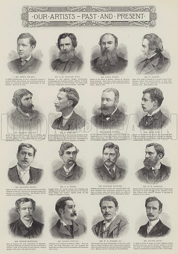 Our Artists, Past and Present. Illustration for The Illustrated London News, 14 May 1892.