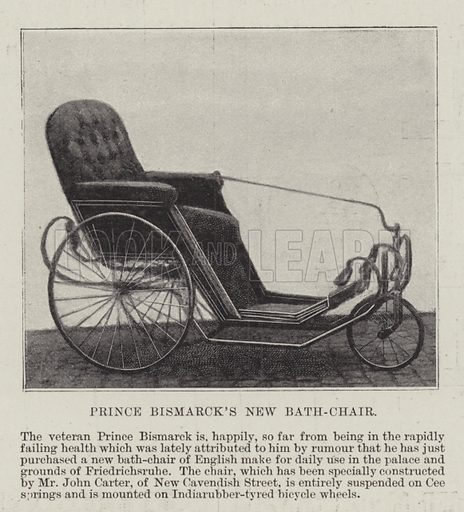 Prince Bismarck's New Bath-Chair. Illustration for The Illustrated London News, 22 January 1898.