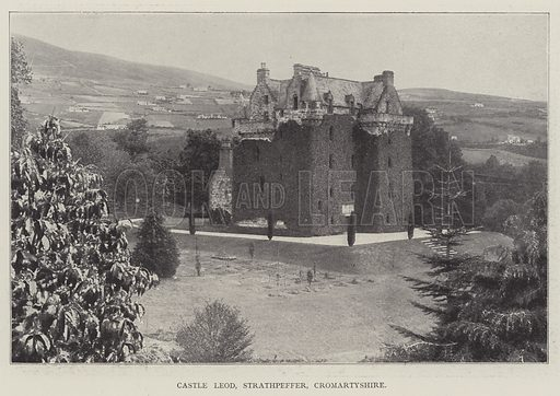 Castle Leod, Strathpeffer, Cromartyshire. Illustration for The Illustrated London News, 12 March 1898.