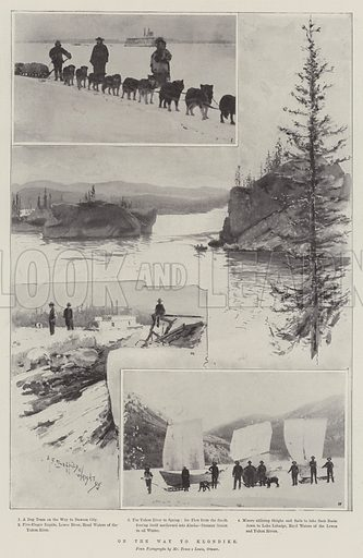 On the Way to Klondike. Illustration for The Illustrated London News, 26 March 1898.