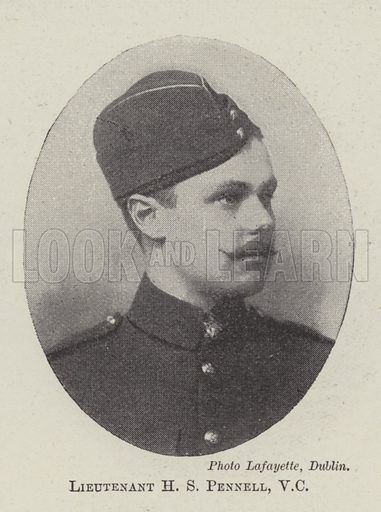 Lieutenant HS Pennell, VC Illustration for The Illustrated London News, 11 June 1898.