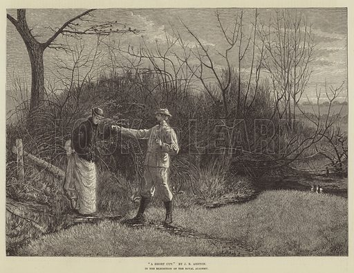 A Short Cut. Illustration for The Illustrated London News, 22 July 1876.