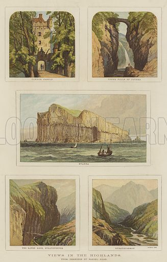 Views in the Highlands. Illustration for The Illustrated London News, 5 August 1876.