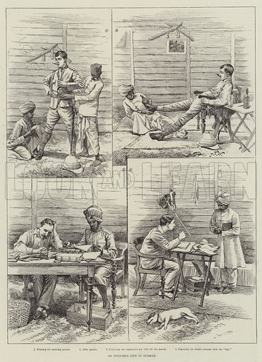 An Officer's Life in Burmah. Illustration for The Illustrated London News, 16 May 1891.