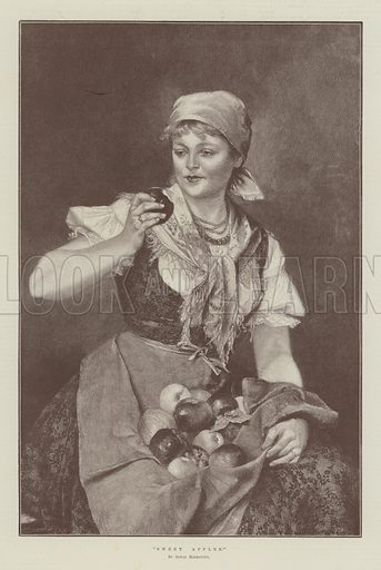 Sweet Apples. Illustration for The Illustrated London News, 2 July 1892.