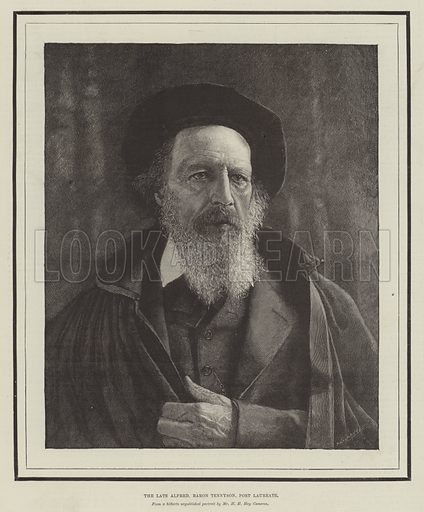 The late Alfred, Baron Tennyson, Poet Laureate. Illustration for The Illustrated London News, 15 October 1892.