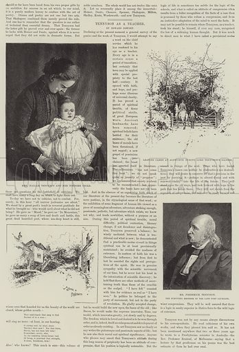 Alfred, Baron Tennyson, Poet Laureate. Illustration for The Illustrated London News, 15 October 1892.