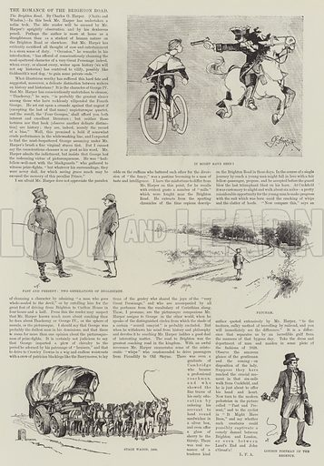 The Romance of the Brighton Road. Illustration for The Illustrated London News, 11 February 1893.