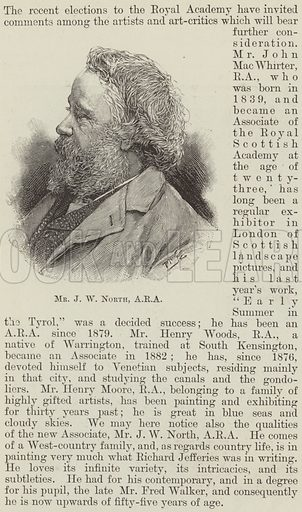 Mr J W North, ARA. Illustration for The Illustrated London News, 13 May 1893.