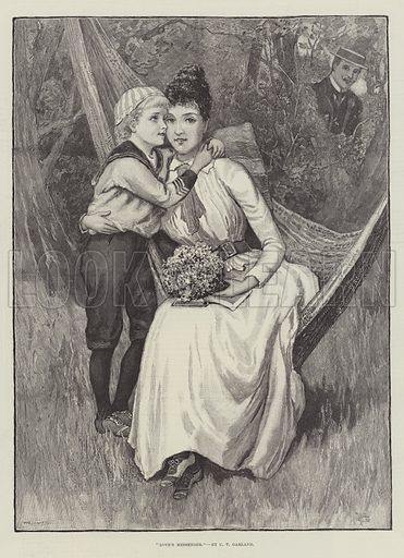 Love's Messenger. Illustration for The Illustrated London News, 17 June 1893.