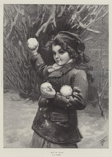 Hit or Miss. Illustration for The Illustrated London News, 13 January 1894.