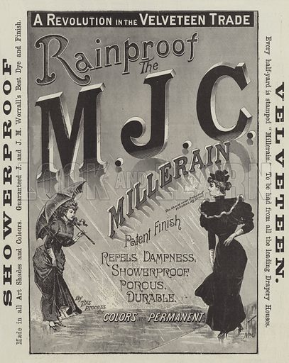 Advertisement, M J C Millerain. Illustration for The Illustrated London News, 19 May 1894.