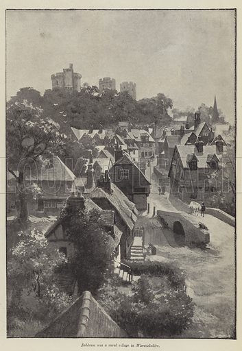 His Good Fairy, by Mary Elizabeth Braddon. Illustration for The Illustrated London News, Summer Number 1894.
