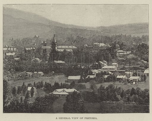 A General View of Pretoria. Illustration for The Illustrated London News, 11 January 1896.
