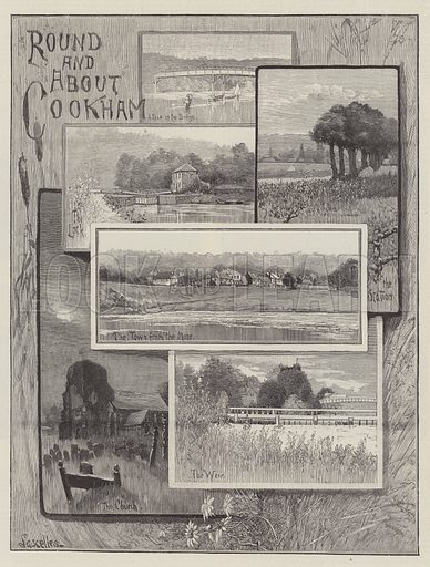 Round and About Cookham. Illustration for The Illustrated London News, 5 September 1896.