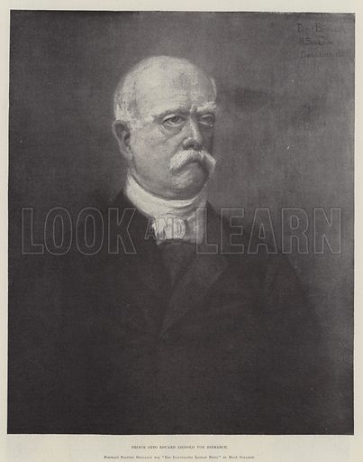Prince Otto Eduard Leopold von Bismarck. Illustration for The Illustrated London News, 6 August 1898.