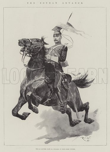 The Soudan Advance. Illustration for The Illustrated London News, 3 September 1898.