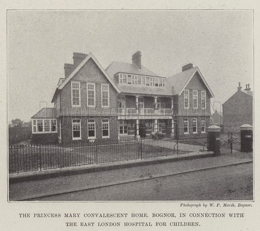 The Princess Mary Convalescent Home, Bognor, in Connection with the East London Hospital for Children. Illustration for The Illustrated London News, 3 December 1898.