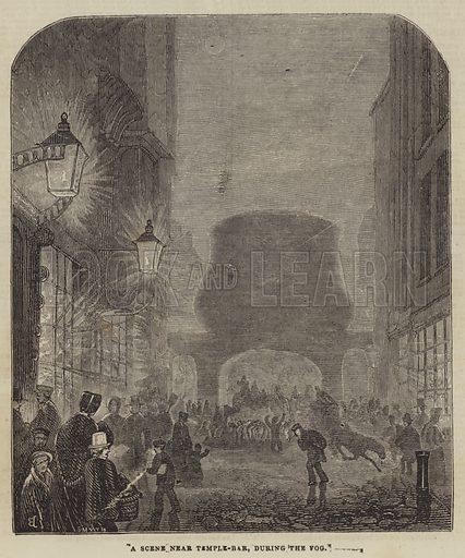 A Scene near Temple-Bar, during the Fog