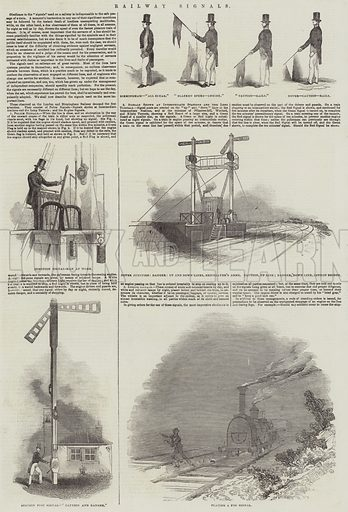Railway Signals. Illustration for The Illustrated London News, 14 December 1844.