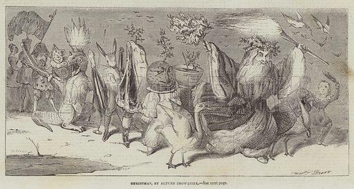 Christmas. Illustration for The Illustrated London News, 28 December 1844.