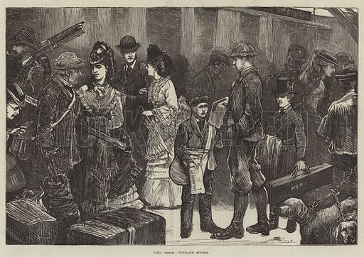 Going North, Dunblane Station. Illustration for The Illustrated London News, 12 August 1871.