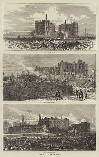 The Ruins of Chicago. Illustration for The Illustrated London News, 18 November 1871.