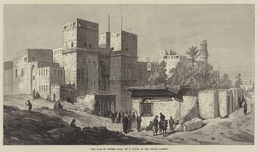 """The Gate of Victory, Cairo,"" in the Dudley Gallery. Illustration for The Illustrated London News, 18 November 1871."