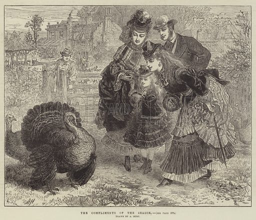 The Compliments of the Season. Illustration for The Illustrated London News, 16 December 1871.