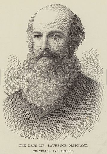 The late Mr Laurence Oliphant, Traveller and Author. Illustration for The Illustrated London News, 5 January 1889.