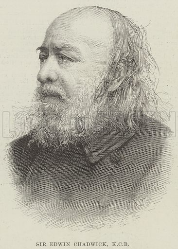 Sir Edwin Chadwick, KCB. Illustration for The Illustrated London News, 23 March 1889.