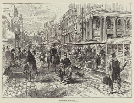 Melbourne, picture, image, illustration