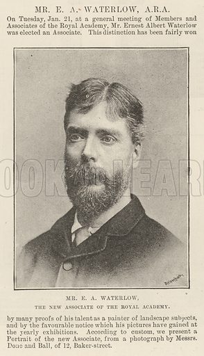 Mr EA Waterlow, the New Associate of the Royal Academy. Illustration for The Illustrated London News, 1 February 1890.