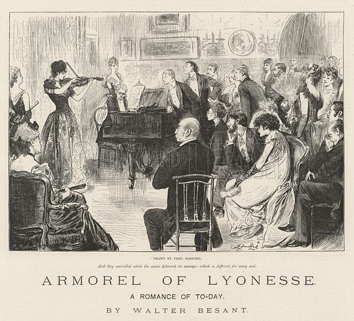 Armorel of Lyonesse, A Romance of To-Day, by Walter Besant. Illustration for The Illustrated London News, 15 March 1890.