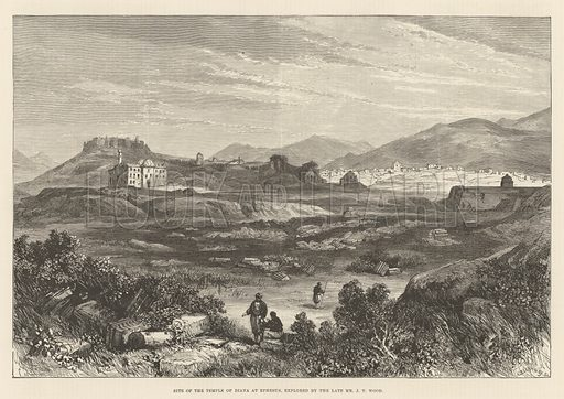Site of the Temple of Diana at Ephesus, explored by the late Mr J T Wood. Illustration for The Illustrated London News, 19 April 1890.