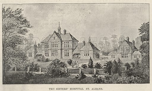 The Sisters' Hospital, St Albans. Illustration for The Illustrated London News, 8 July 1893.