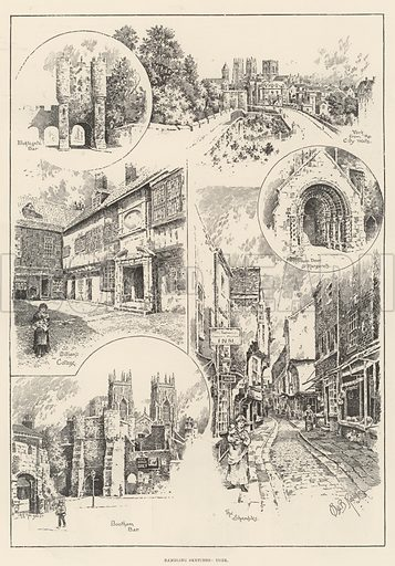 Rambling Sketches, York. Illustration for The Illustrated London News, 7 October 1893.