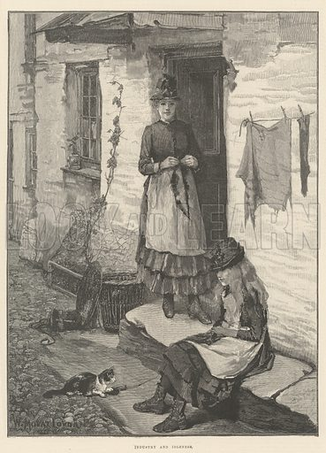 Industry and Idleness. Illustration for The Illustrated London News, 14 October 1893.
